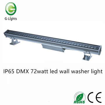 IP65 DMX lampe de lavage murale à LED de 72 watts