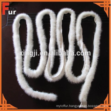 China Factory White Color Mink Fur Trimming