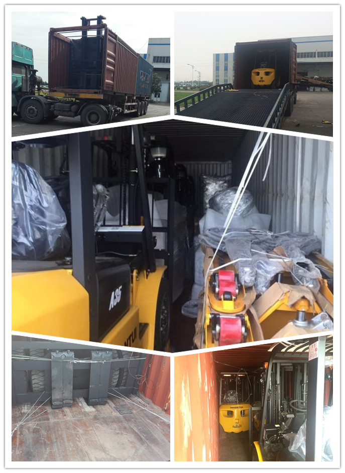 forklift truck shipped iin container