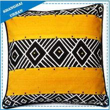 Home Decoration Black/Yellow Design Printed Throw Pillow