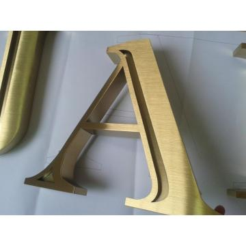 Banhado a ouro 3D Letters Sign