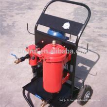 Le filtre à huile de déshydratation de coalescence transporte le chariot en acier de tambour de filtre à huile de distribution de 4 roues