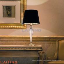 Lampe de table en céramique noire moderne menée, lampe de bureau pour la décoration à la maison 2111