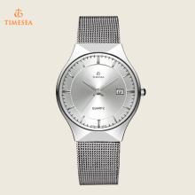 Herren Sport Armband Uhr Ultradünne Edelstahl Mesh Band Uhr 72348