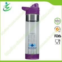 Bouteille d'eau à infusion de fruits sans alcool BPA de 650 Mm Étiquette personnalisée