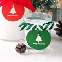 Anhaftender Weihnachtsgeschenkkasten-Dichtungs-kundenspezifischer Aufkleber