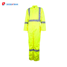Custom design reflective working wear overalls , high quality Cheap saftey uniform Two Piece Overalls China manufacture