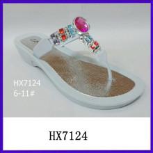 Las sandalias del diamante de las nuevas sandalias del diamante de la tapa de acrílico los más nuevos diseños de las sandalias de las señoras