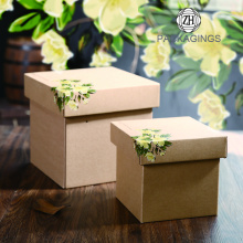 Kraft Paper Lid i Base Box na prezenty