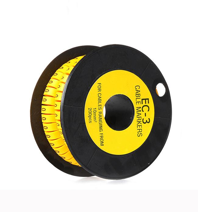 Marcadores de cable colorido C-Tipo etiqueta número de marcador para alambre 1.5//2.5//4//6mm²