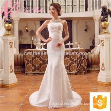 Suzhou fábrica de renda appliques sereia barato personalizado feito mais vestido de noiva de tamanho
