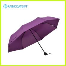 Classical Manual Open 3 Folding Umbrella Rum-085