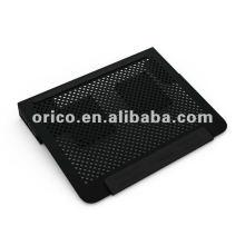 2012 más nuevo todo el cojín de enfriamiento del ordenador portátil de aluminio14inch con el puerto del usb
