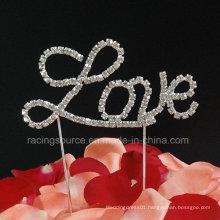 Crystal Love Letter Cake Topper Rhinestone Wedding Cake Topper for Cake