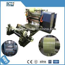 Máquina de rebobinamento de corte de filme plástico