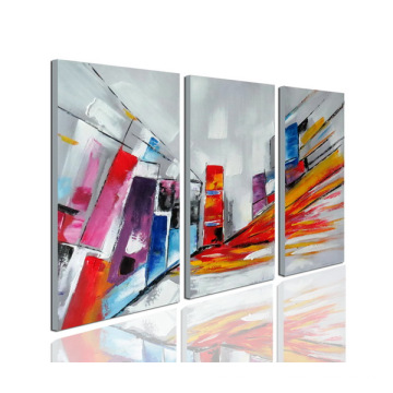 Arte colorida da pintura a óleo moderna da lona