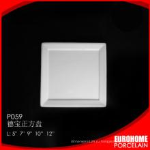 новой продукции фарфора посуда тонкой керамические белые квадратные пластины