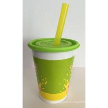 Высококачественные бумажные стаканчики с крышками для напитков