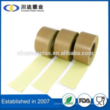 Aislante resistente al calor ptfe revestimiento de embalaje de tela ptfe fibra de vidrio cinta adhesiva