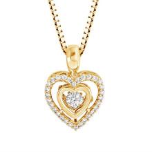 Micro Setting 925 Silver Dancing Diamond Pendants Jewelry