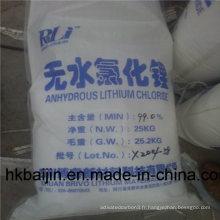 Monohydrate de chlorure de lithium de qualité industrielle 99%