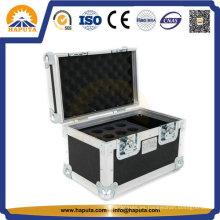 Caja de almacenamiento de aluminio para instrumentos musicales con espuma personalizada en el interior (HF-5102)