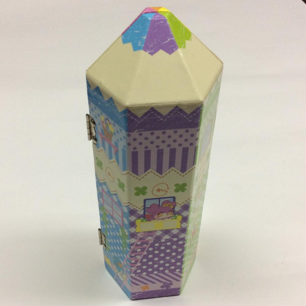 Paper Pen Shaped Cartoon Stamp Gift Box
