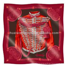 Twill silk scarf - Hot sale Italy design printed twill silk scarf