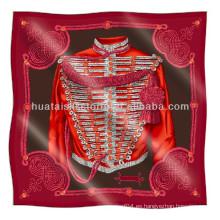 Bufanda de seda de sarga - diseño de Italia venta caliente impresa bufanda de seda de sarga