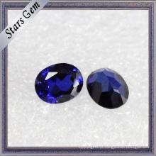 Luminous Exquisite Oval Brilhante Azul Escuro Corindo Esmeralda