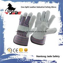 Grau-Rindsleder-Arbeits-Handschuh