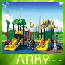 Système de jeu en caoutchouc et galvanisé en plein air / structure de jeu en plein air personnalisée