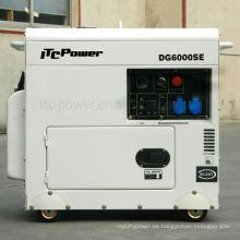 5kva silencioso generador diesel, gran generador de tanque de combustible, generador de sonido diesel