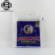 Sacs à provisions en plastique faits sur commande de poignée de corde