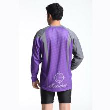 100% Polyester Man's Langarm Sublimation Druck T-Shirt