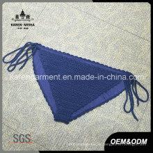Damen gefütterte Krawatte Side Crochet Bikini Bottom
