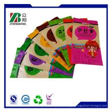 Обработанная мешочная упаковочная сумка Крафт-бумага Stand Up Zipper Bag