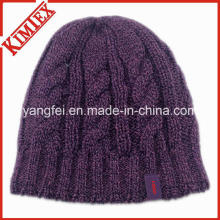 Newest Fashion Design Knit Hat Warm Jacquard Beanie Cap