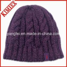 Mais novo design de moda malha chapéu quentes jacquard beanie tampa