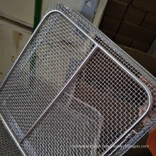 High Quality 5x5 8x8 Mesh Inconel 600 601 625 Wire Mesh Basket Tray Used For Medical Instrument Cleaning