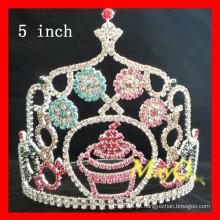 Atacado Colorido rhinestone Candy pageant coroas, tamanhos disponíveis