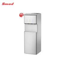Compressor Cooling Standing Glass Water Dispenser with Refrigerator