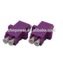 Alta qualidade Duplex LC OM4 adaptador OM4 fibra óptica adaptador com cor roxa
