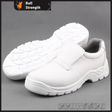 White Microfiber Leather Safety Shoe with PU/PU Outsole (SN5137)