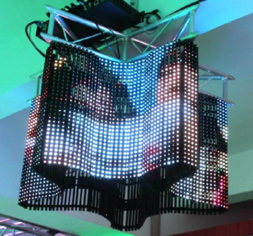 Indoor led curved mesh display screens