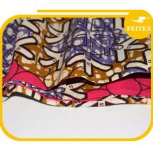 New Products 2017 African Kint Cotton Damask Kaftan Fashion Wax Fabric Dress