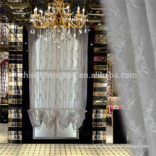 Home decor luxury tulle fabric curtain embroidery roman blinds