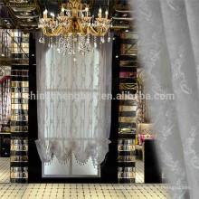 Decoração de casa luxo tulle tecido cortina bordado persianas romanas