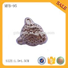 MFB95 boutons métalliques sur mesure en or pour jeans, boutons en métal haut de gamme avec votre propre logo