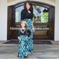 2017 новая мода с длинным seelve соответствующие семья одежда мама и я наряды платья мать дочь соответствующие платья